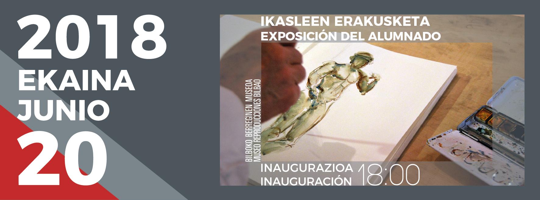 Bilboko Berreginen Museoak Marrazketa eta Margolaritza ikastaroko ikasleen artelanez osatutako erakusketa inauguratuko du