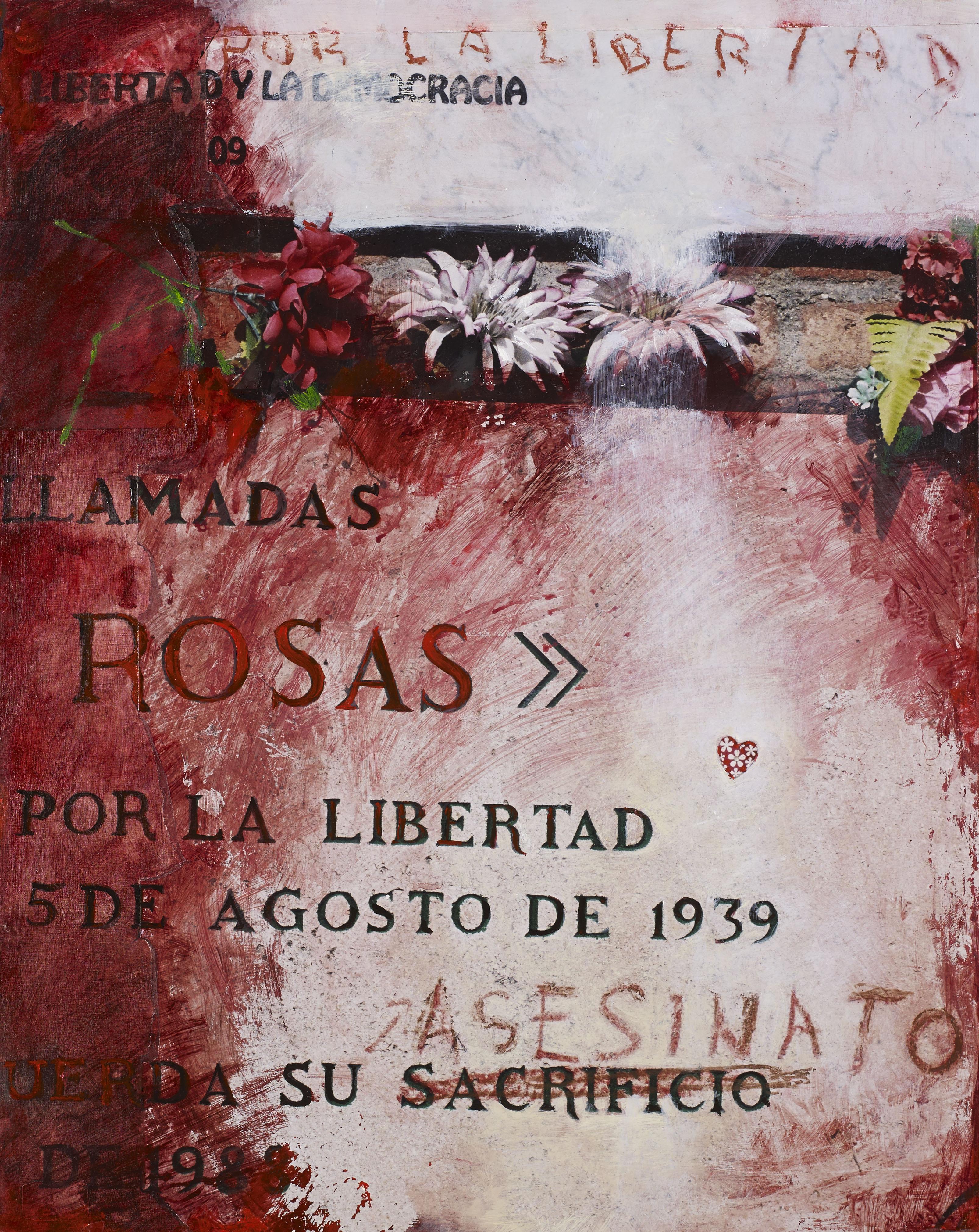 Le peuple de Madrid commémore les jeunes femmes appelées Les Treize Roses, assassinées le 5 août 1939. Cimetière de La Almudena, Madrid.