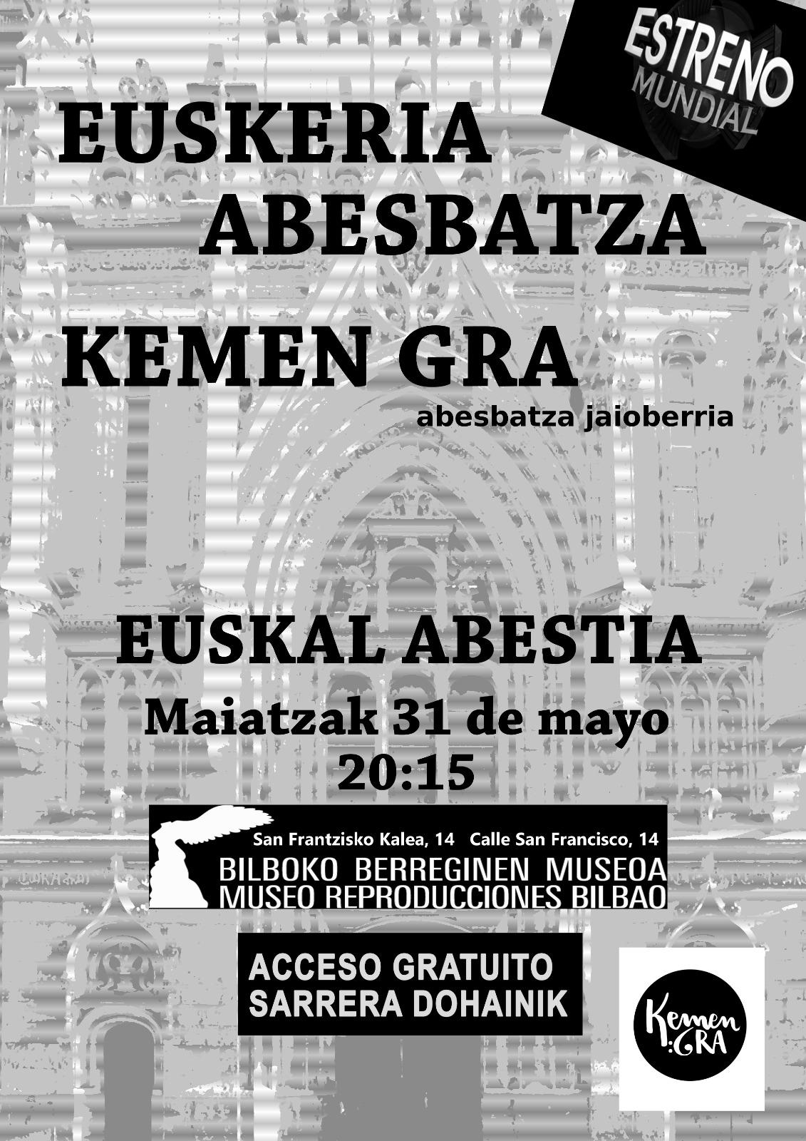 Euskal musika koraleko kontzertua Berreginen Museoan