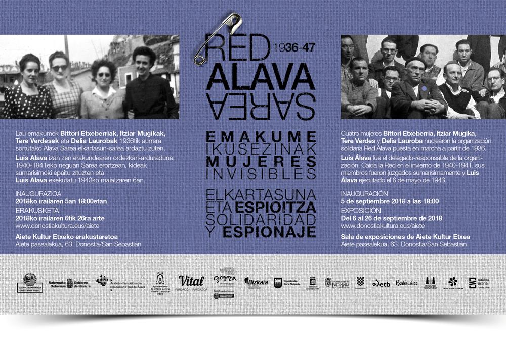 Red Álava. Mujeres invisibles. Solidaridad y espionaje 1936-1947