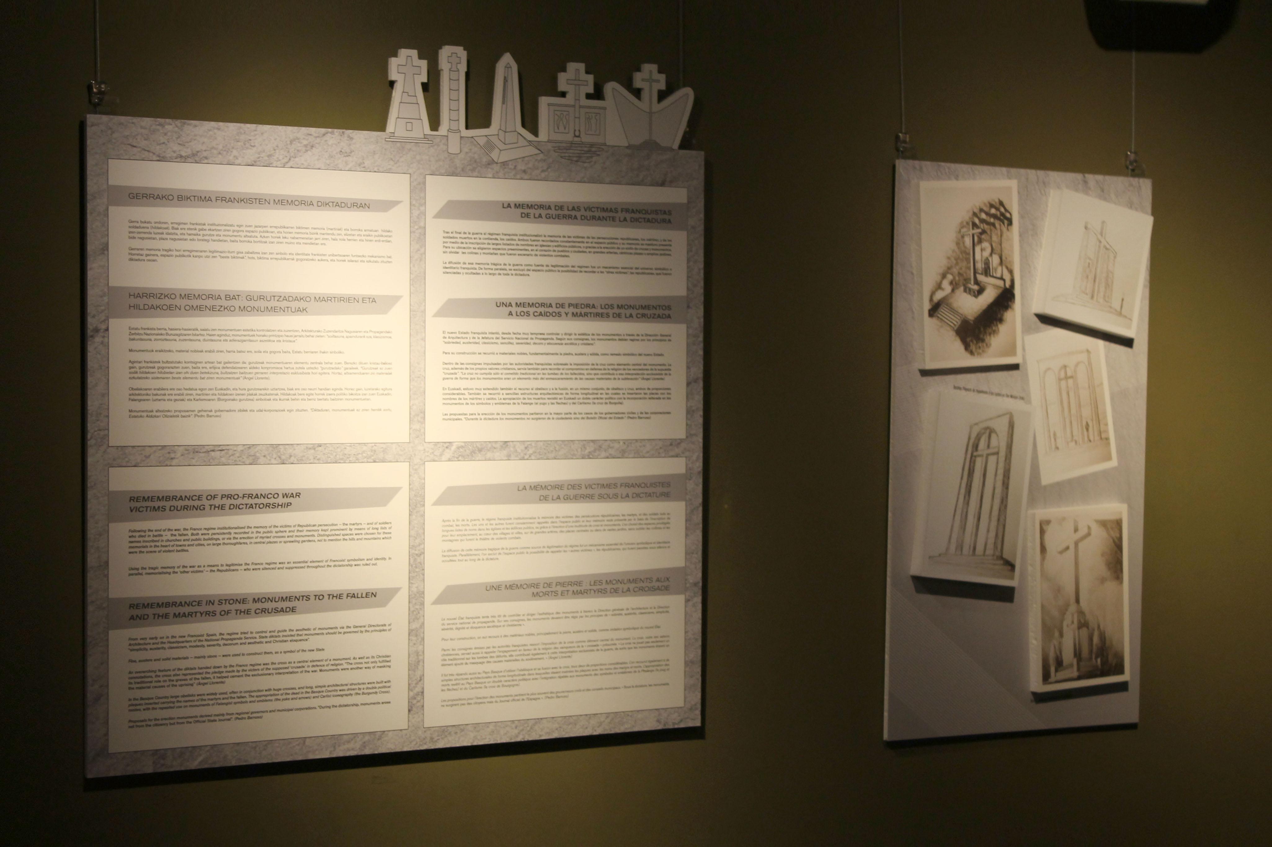 Exposición Memorias de piedra y acero